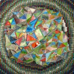 Facets, 2011, acrylic paint/ink on panel, 6 x 6 in. [private collection]